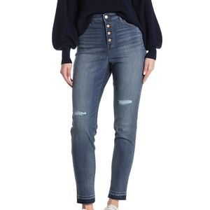 William Rast  Ripped High Waisted Skinny Jeans